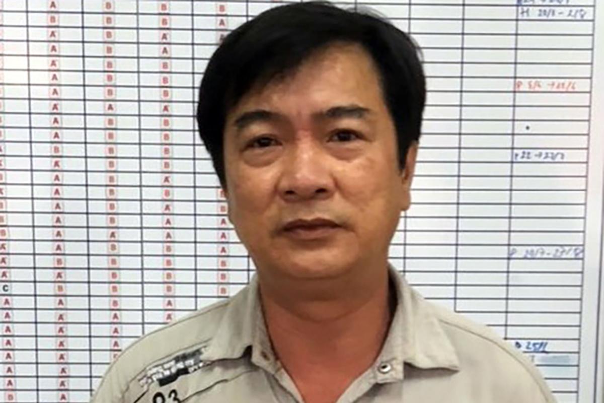 Từ Thanh Phong khi bị bắt. Ảnh: Công an cung cấp.