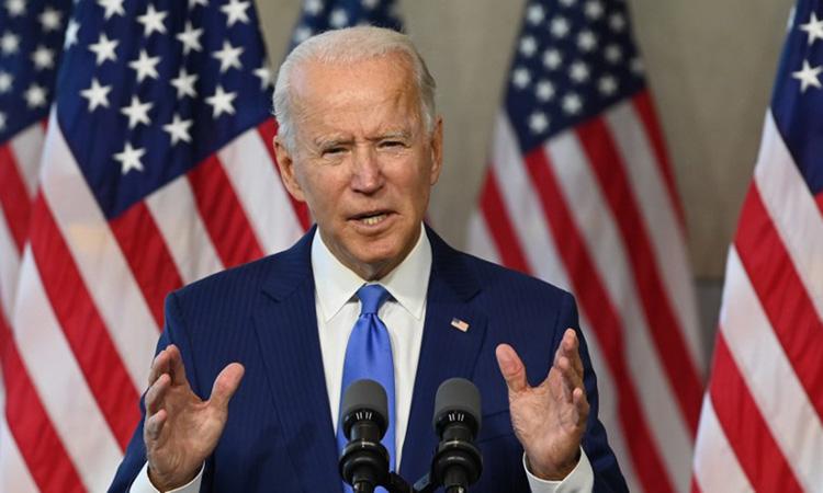Ứng viên tổng thống đảng Dân chủ Joe Biden tại buổi vận động tranh cử ở bang Pennsylvania hôm 20/9. Ảnh: AFP.