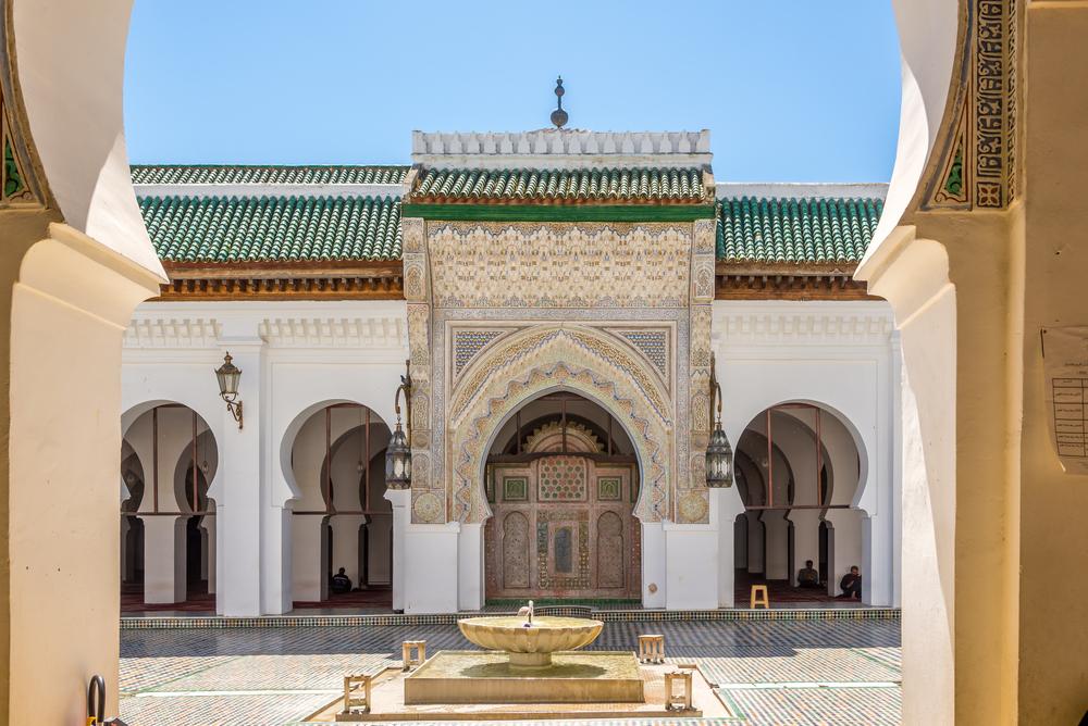 Một góc sân của Đại học Al Quaraouiyine. Ảnh: Shutterstock
