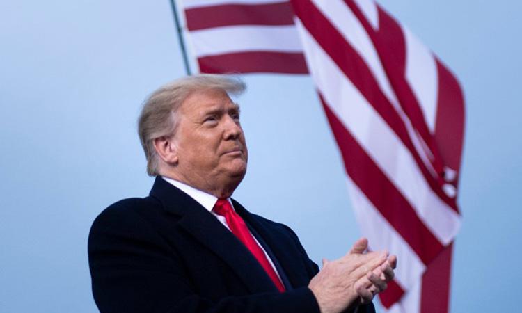 Tổng thống Mỹ Donald Trump tại cuộc vận động tranh cử ở bang Bắc Carolina hôm 19/9. Ảnh: AFP.
