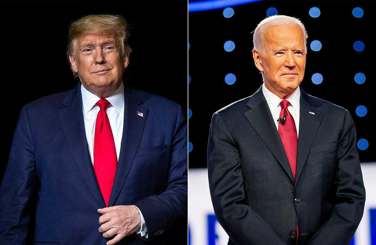 Tổng thống Mỹ Trump (trái) và ứng viên Joe Biden. Ảnh: USA Today.
