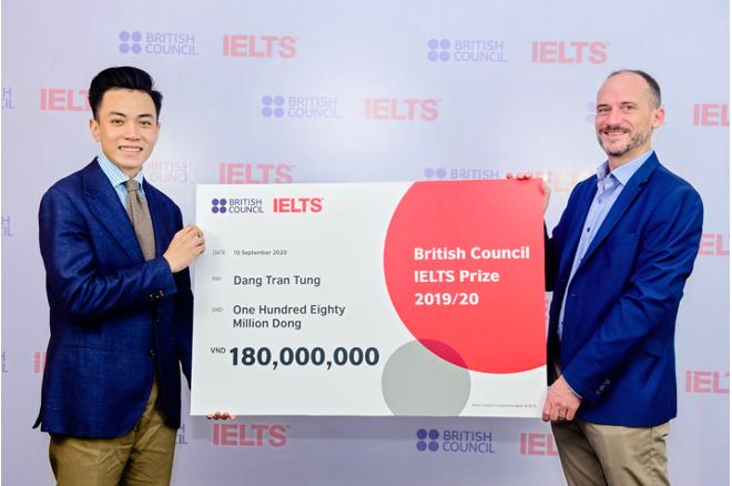 Đặng Trần Tùng đạt giải Nhất học bổng IELTS Prize Đông Á 2020 của Hội đồng Anh.