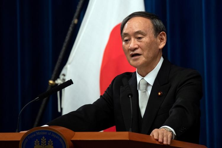 Ông Suga phát biểu trong họp báo sau khi được xác nhận là tân thủ tướng Nhật Bản ngày 16/9 tại Tokyo. Ảnh: Reuters.