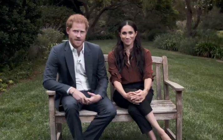 Harry - Meghan kêu gọi người Mỹ đi bầu cử trong video của Time 100. Ảnh: Time 100.