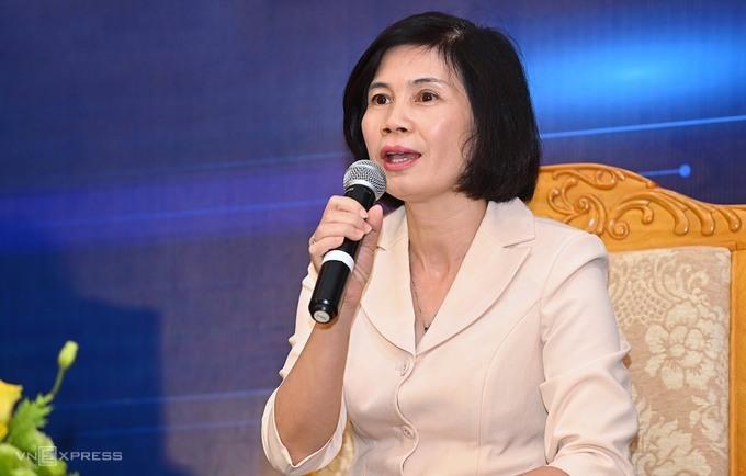 TS Trần Thị Mai Oanh thảo luận tại tọa đàm. Ảnh: Giang Huy.