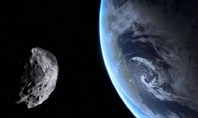 Mô phỏng thiên thạch áp sát Trái Đất. Ảnh: Live Science.