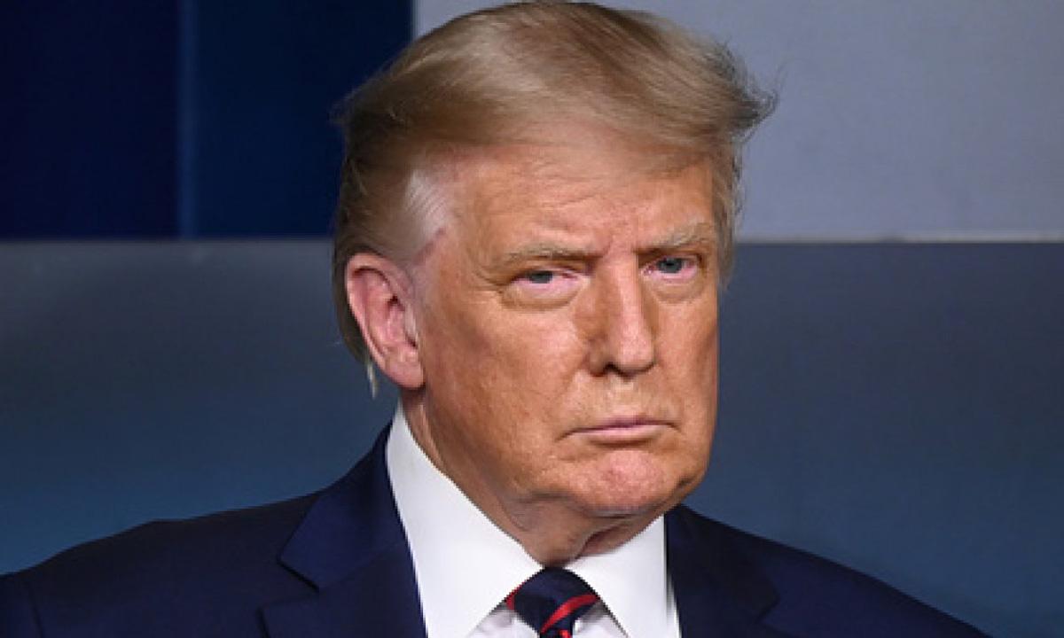 Tổng thống Mỹ Donald Trump trong cuộc họp báo tại Nhà Trắng hôm 23/8. Ảnh: Reuters.