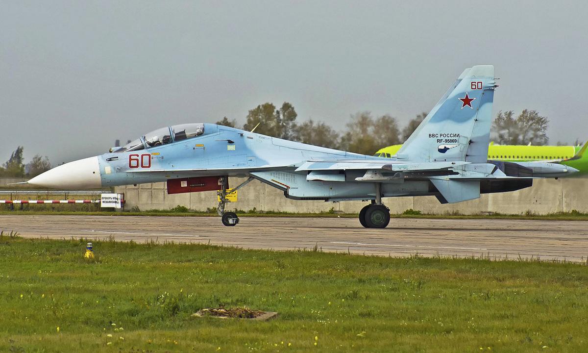 Tiêm kích Su-30M2 mã số RF-95869 hồi năm 2018. Ảnh: Russian Planes.