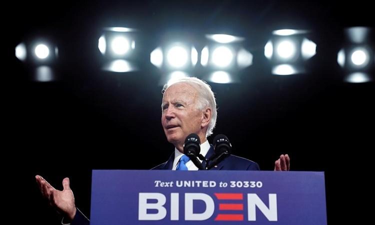 Joe Biden phát biểu tại một buổi vận động tranh cử ở Wilmington, Delaware, ngày 2/9. Ảnh: Reuters.