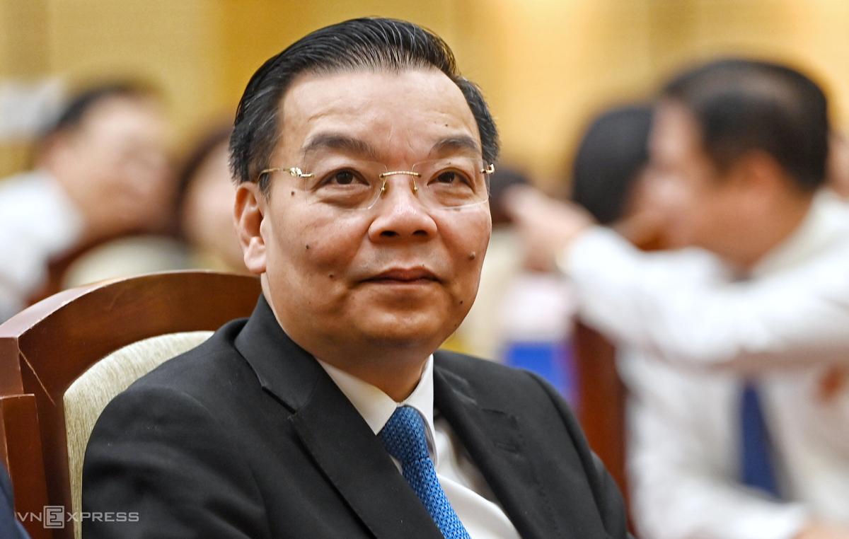 Ông Chu Ngọc Anh tại kỳ họp HĐND TP Hà Nội sáng 25/9. Ảnh: Giang Huy