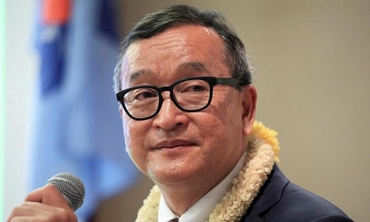 Sam Rainsy tại Philippines tháng 6/2016. Ảnh: Reuters.