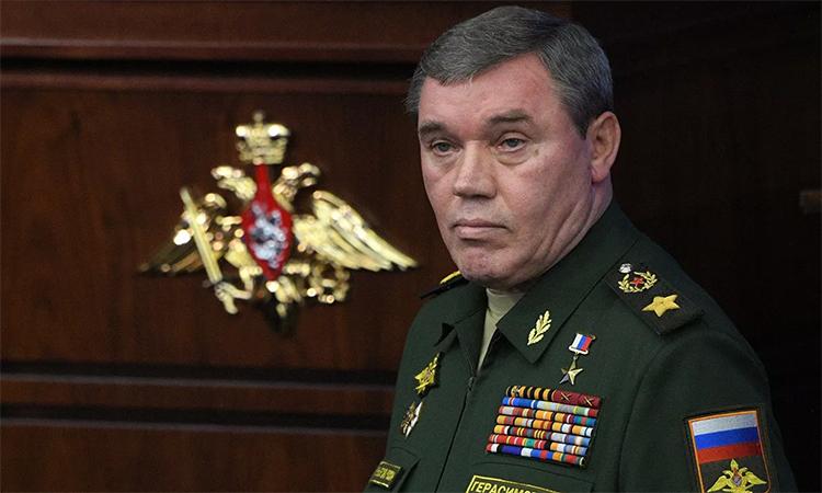 Tham mưu trưởng, đại tướng Valery Gerasimov tại cuộc họp thường niên của Bộ Quốc phòng Nga, tháng 12/2019. Ảnh: RIA Novosti.
