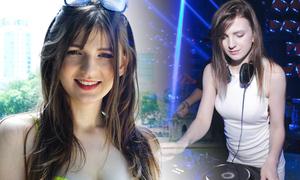 Cô gái Ukraine làm DJ trong quán bar Việt