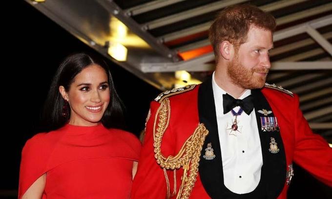 Harry - Meghan tham dự một sự kiện hoàng gia ở London, Anh hôm 7/3. Ảnh: Reuters.
