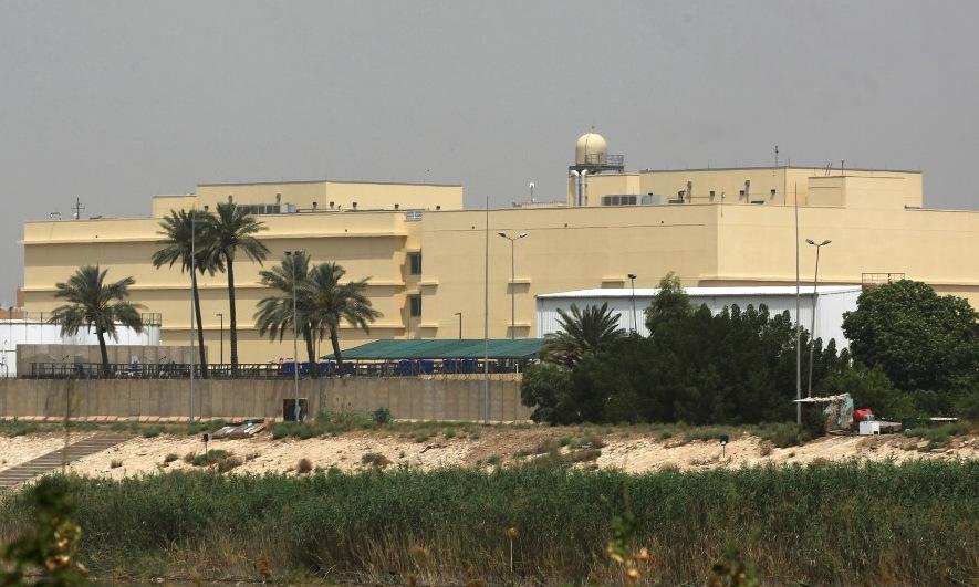 Khu nhà đại sứ quán Mỹ ở thủ đô Baghdad của Iraq. Ảnh: AFP.