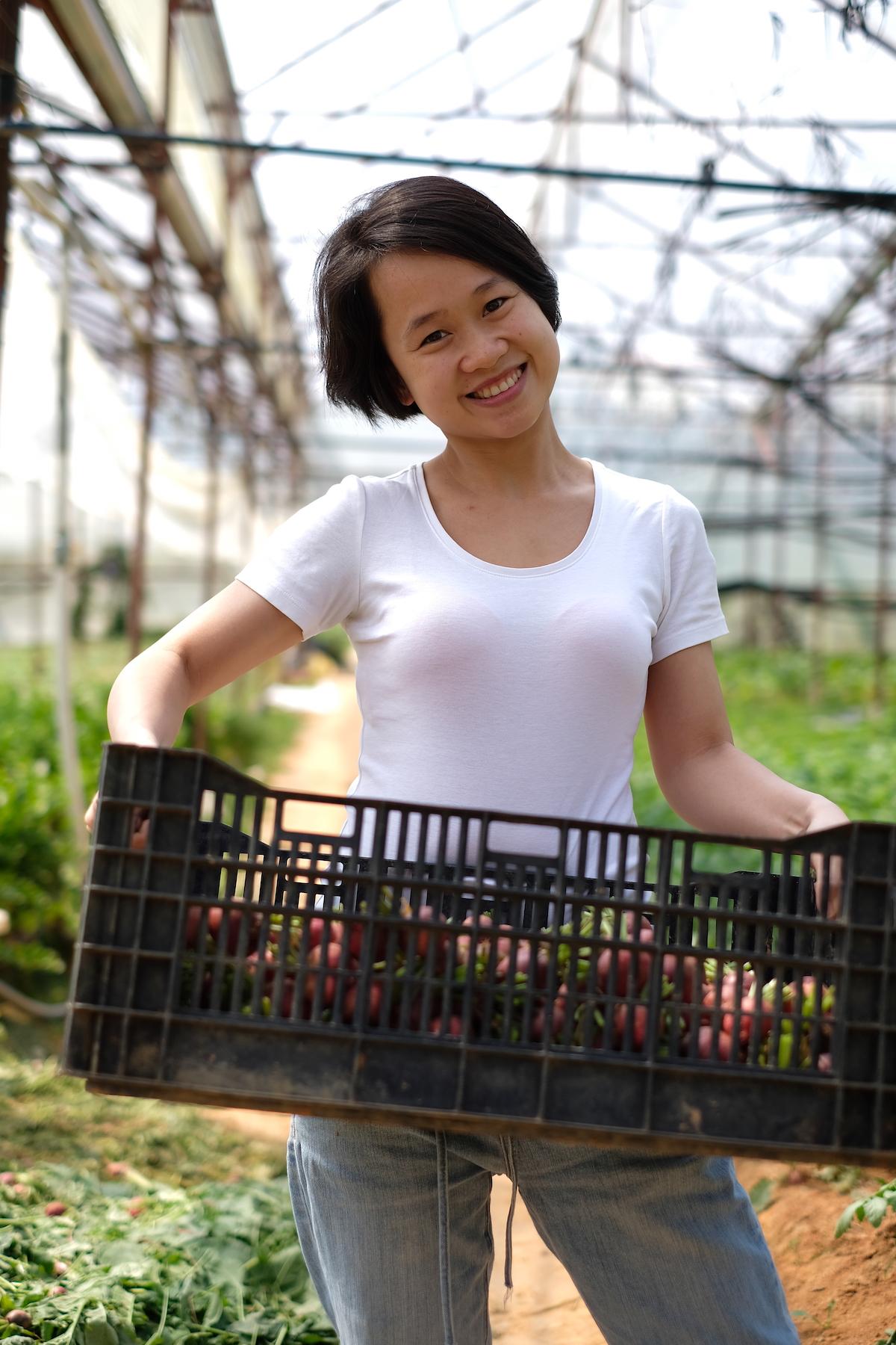 Nữ doanh nhân Trần Thanh Huyền, người sáng lập True Juice - dịch vụ vận chuyển nước ép trái cây độc đáo tại Hà Nội.