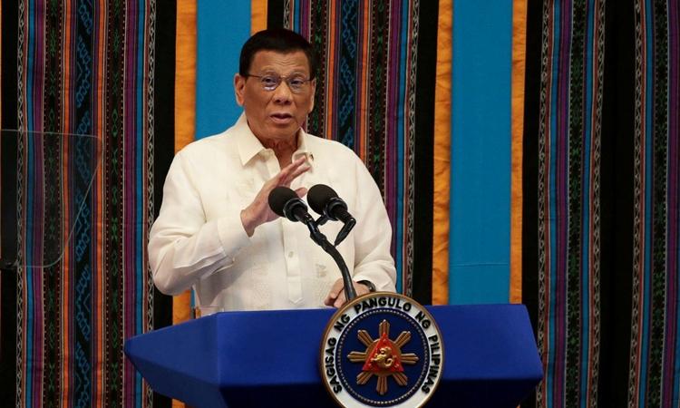 Tổng thống Philippines Rodrigo Duterte tại thành phố Quezon hồi tháng 7/2019. Ảnh: Reuters.