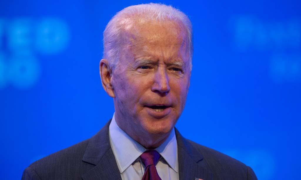 Ứng viên tổng thống đảng Dân chủ Joe Biden phát biểu tại thành phố Wilmington, bang Delaware, hôm 27/9. Ảnh: AFP.