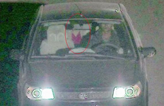 Cảnh sát cho rằng đây là chiếc túi xách của Hà. Ảnh: CCTV.