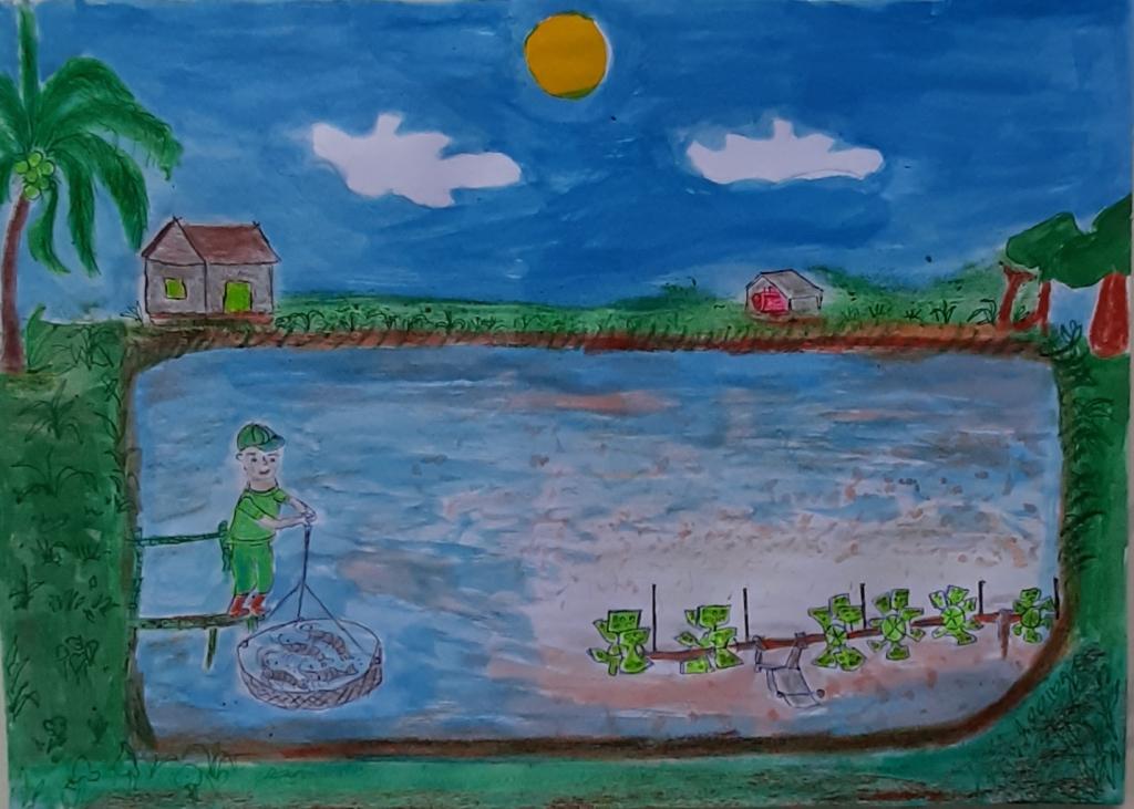 ước mơ trở thành người nông dân giỏi và nuôi tôm giỏi.