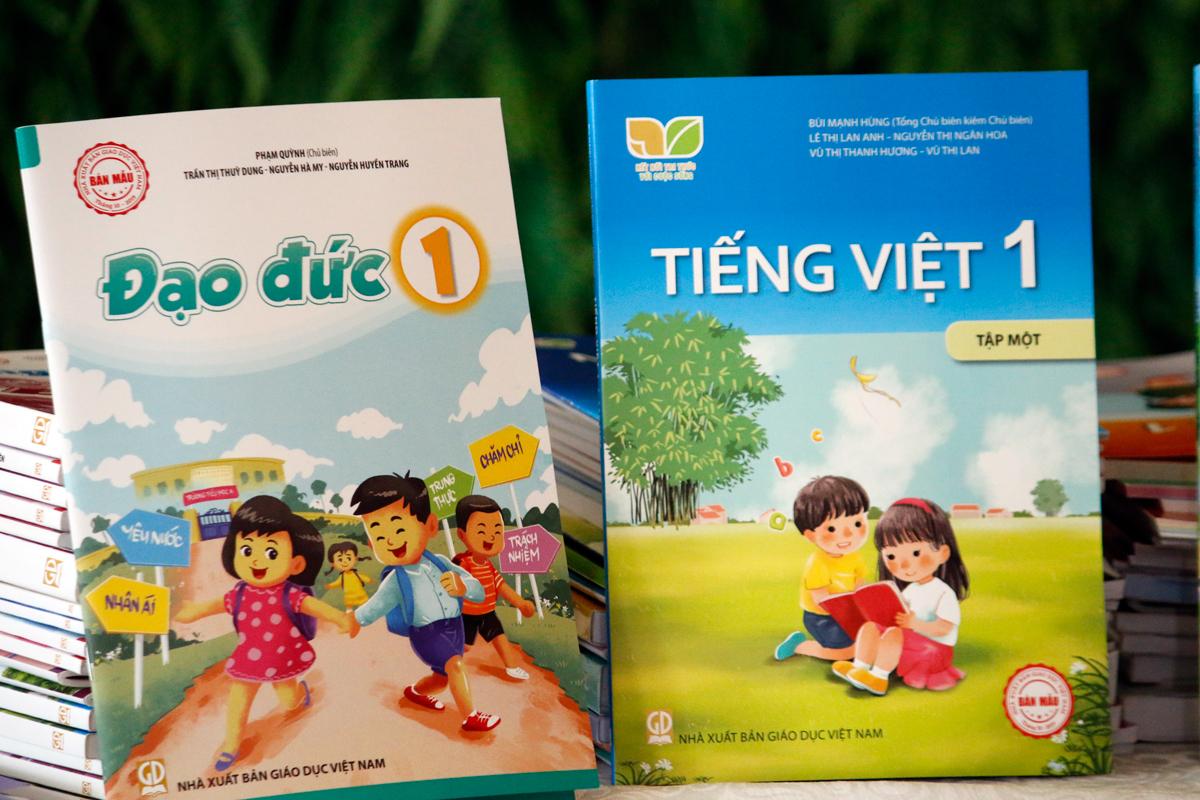 Sách Tiếng Việt của bộ sách Kết nối tri thức với cuộc sống. Ảnh: Thanh Hằng.