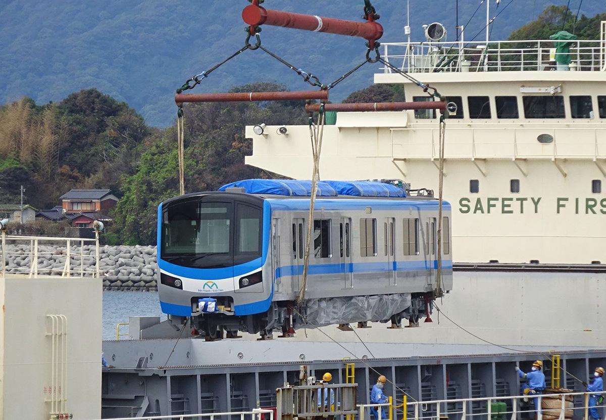 Toa tàu Metro Số 1 được bắt đầu cảng Kasado (Nhật Bản) từ hôm 30/9. Ảnh: MAUR.