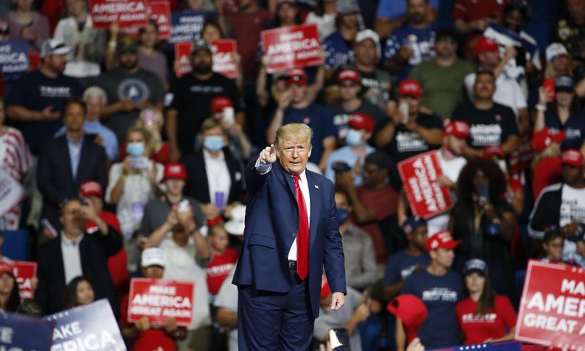 Trump tại sự kiện tranh cử ở Tulsa, bang Oklahoma hồi tháng 6. Ảnh: AP.
