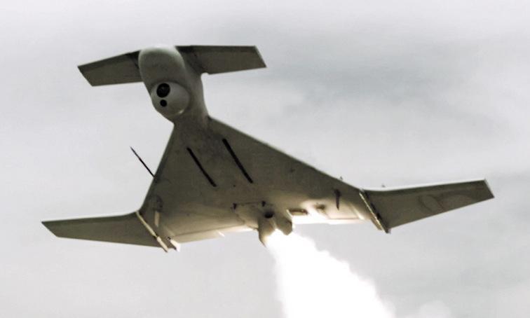Một chiếc Harop của Israel bay thử. Ảnh: IAI.