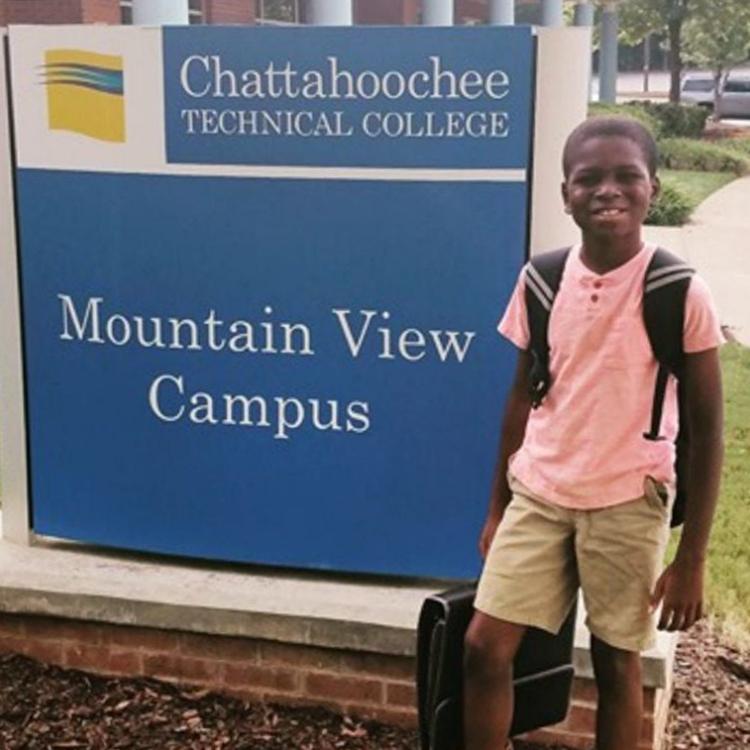 Caleb Anderson ở trường Kỹ thuật Chattahoochee. Ảnh: Gia đình cung cấp cho USA Today.
