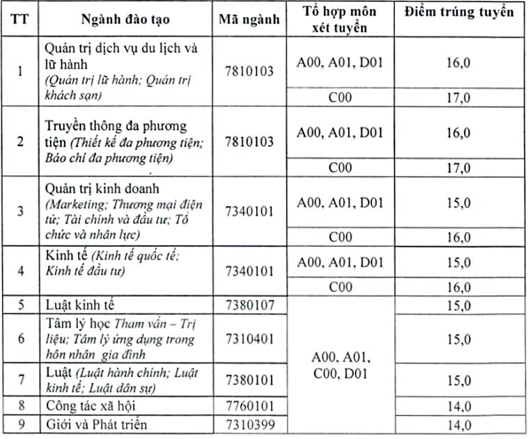 Học viện Phụ nữ Việt Nam, Đại học Văn hóa Hà Nội  - 4