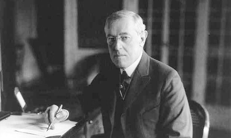 Tổng thống Woodrow Wilson năm 1918, năm đại dịch cúm hoành hành khắp thế giới. Ảnh: Thư viện Quốc hội Mỹ.