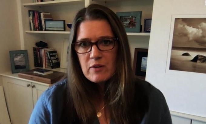 Mary Trump, cháu gọi Tổng thống Mỹ Donald Trump là chú ruột, trả lời phỏng vấn hôm 13/9. Ảnh chụp màn hình video cuộc phỏng vấn của CNN.