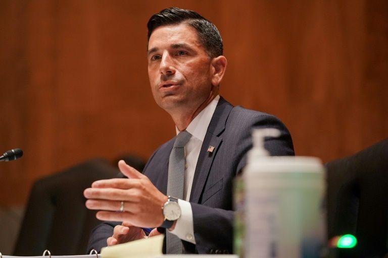 Quyền Bộ trưởng An ninh Nội địa Mỹ Chad Wolf điều trần tại Ủy ban An ninh Nội địa và Các vấn đề Chính phủ của Thượng viện hôm 23/9. Ảnh: AFP.