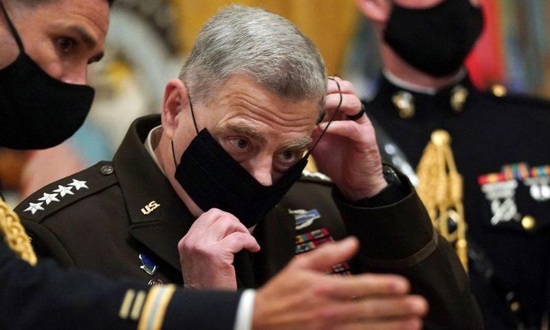 Tướng Milley đeo khẩu trang tại một buổi lễ ở Nhà Trắng hôm 11/9. Ảnh: Reuters.