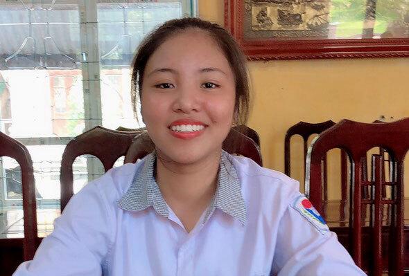 Nguyễn Thị Hương, thủ khoa khối C cả nước với 29,25 điểm. Ảnh:Nhân vật cung cấp.