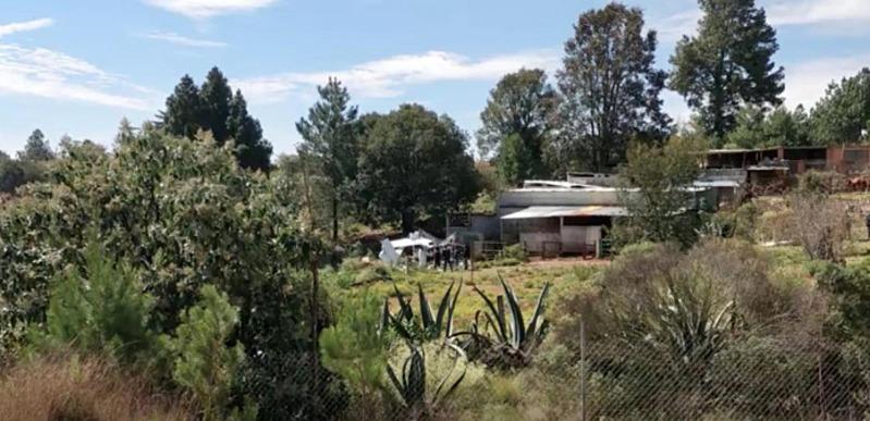 Địa điểm nơi chiếc máy bay dân dụng hạng nhẹ chở 400 kg cocaine, rơi ở Botija, bang Queretero, Mexico, hôm 5/10. Ảnh: Reuters.