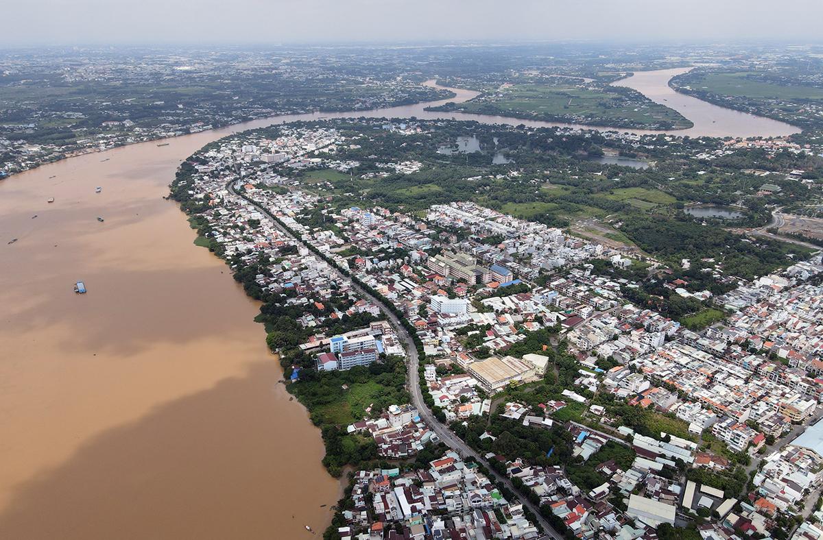 Khu vực được quy hoạch làm đường ven sông Đồng Nai từ cầu Hoá An lên huyện Vĩnh Cửu dài 5,2km. Ảnh: Phước Tuấn