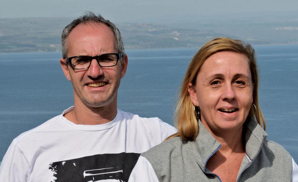 Shaun Rootenberg và Kim Barker trong chuyến đi tới Israel năm 2014. Ảnh: Toronto Life.