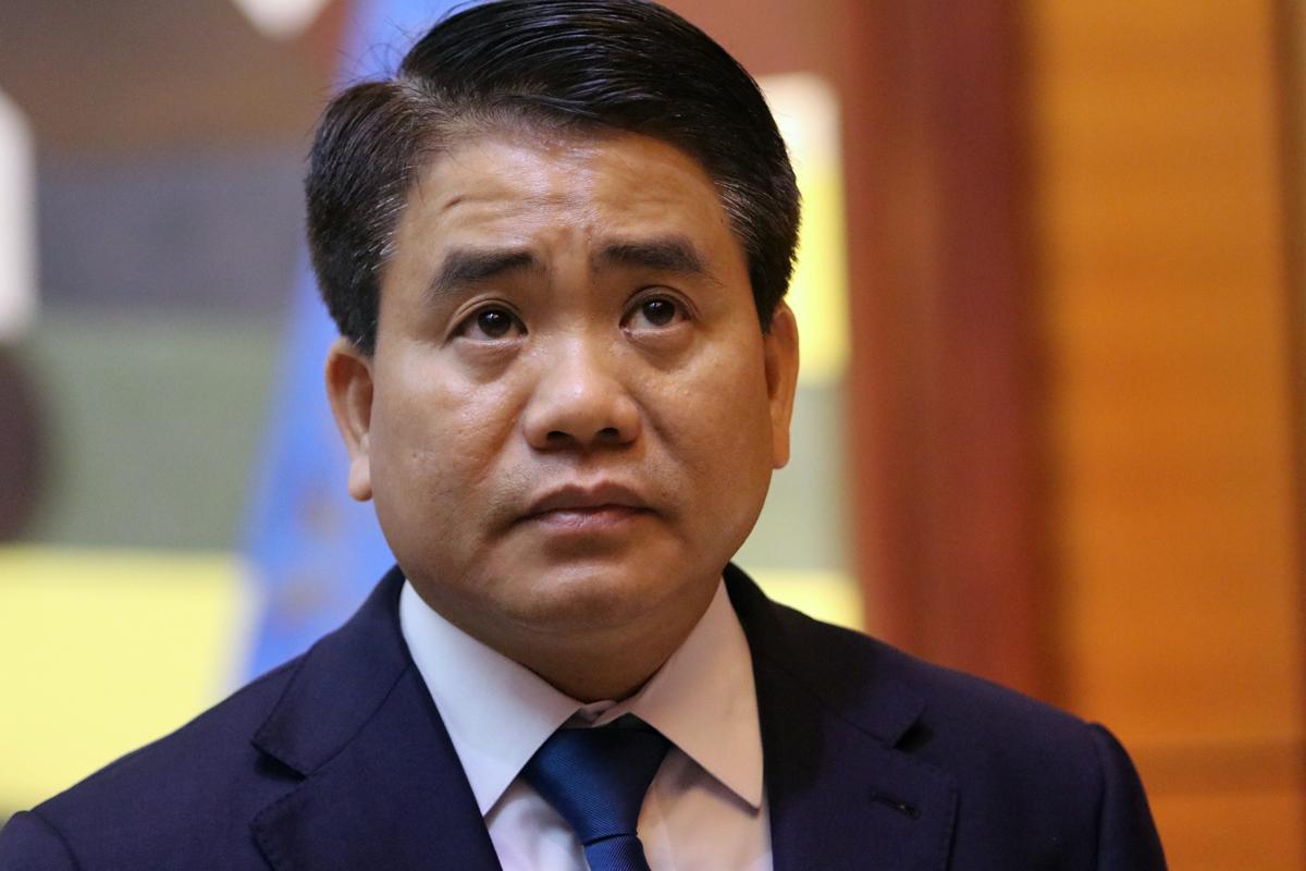Ông Nguyễn Đức Chung trước khi bị bắt. Ảnh: Võ Hải.