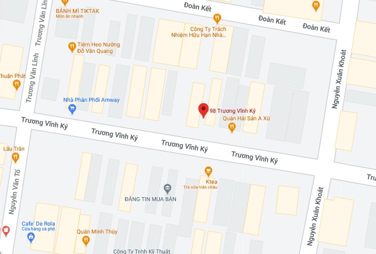 Vị trí ngân hàng bị cướp. Ảnh: Google maps.