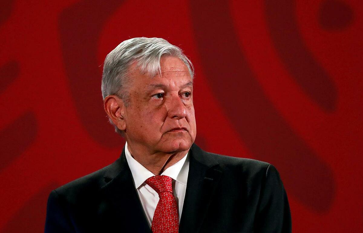Tổng thống Mexico Andrew Manuel Lopez Obrador tại họp báo ở thủ đô Mexico City, ngày 17/3. Ảnh: Reuters.