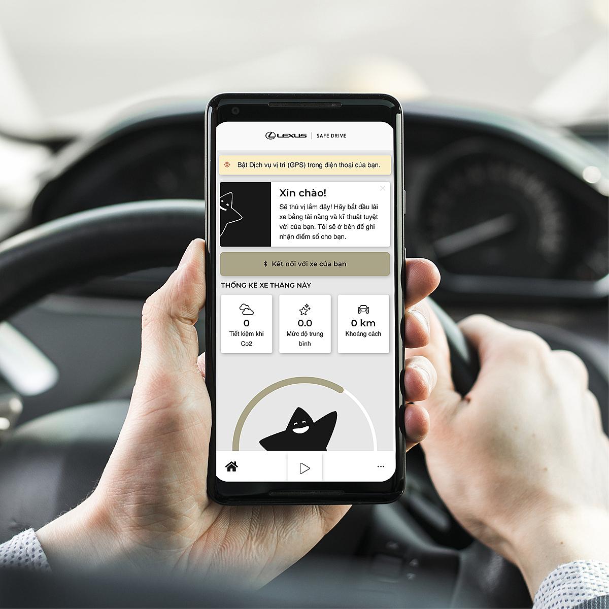Ứng dụng Lexus Safe Drive do Toyota Việt Nam và MSIG Việt Nam nghiên cứu và phát triển. Ảnh: MSIG.