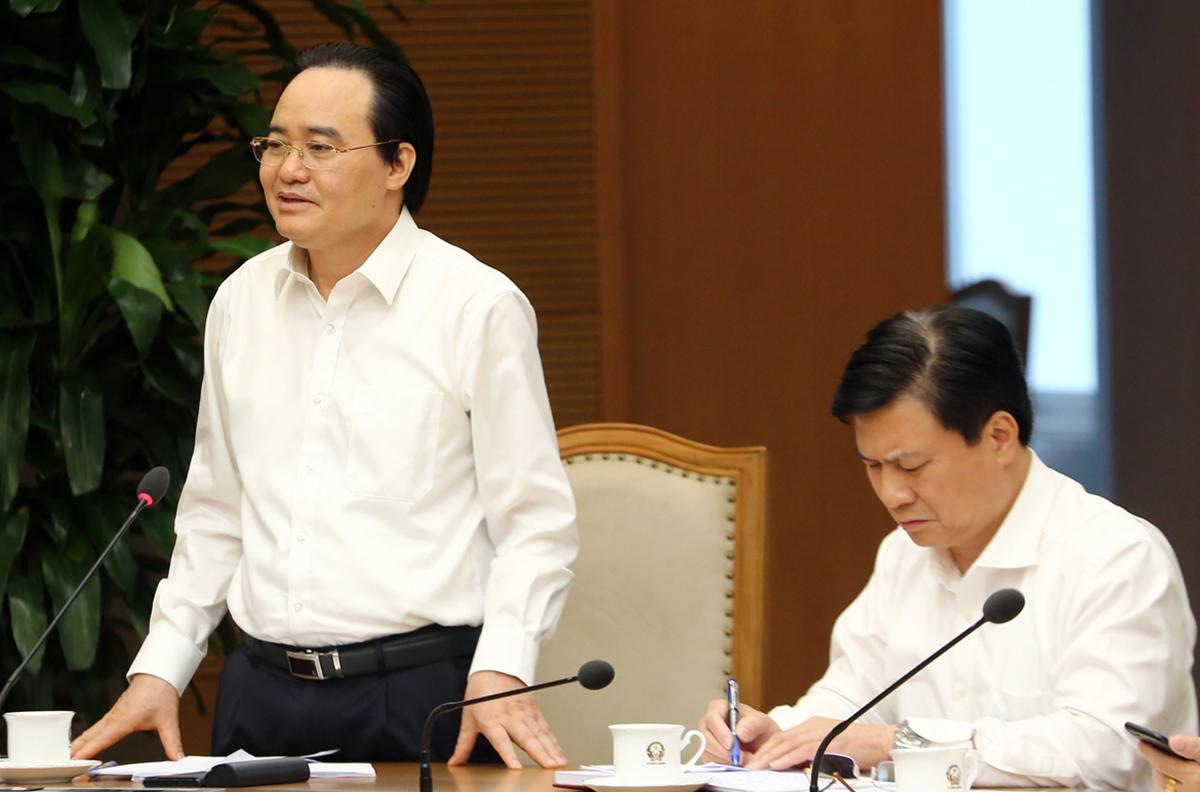Bộ trưởng Giáo dục và Đào tạo Phùng Xuân Nhạ. Ảnh: Đình Nam