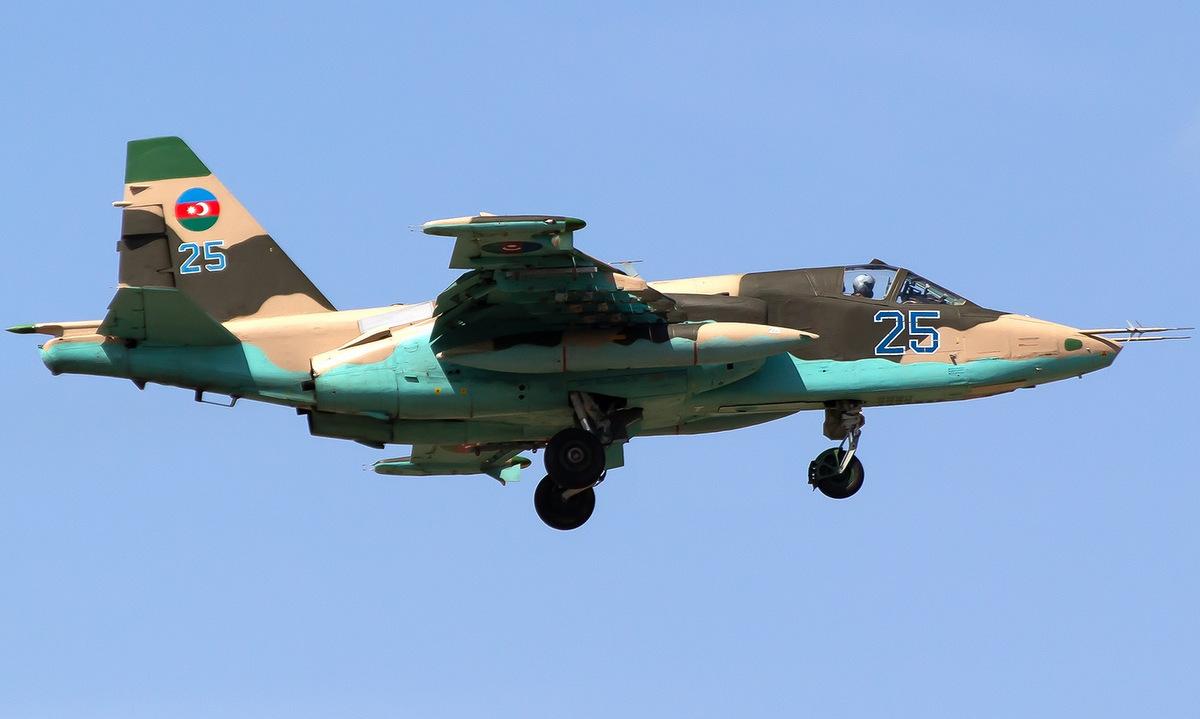 Cường kích Su-25 trong biên chế không quân Azerbaijan. Ảnh: Jetphotos.