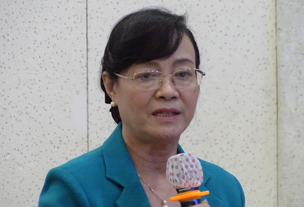Bà Nguyễn Thị Quyết Tâm phát biểu tại kỳ họp, chiều 12/10. ẢNh: Hà An.