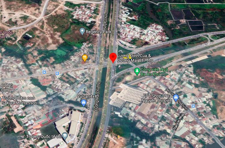 Vị trí nút giao An Phú (quận 2). Ảnh: Google maps