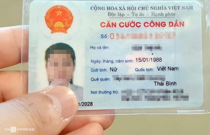 Thẻ căn cước công dân có mã vạch hiện nay chứa khoảng 20 thông tin. Ảnh: Phương Sơn