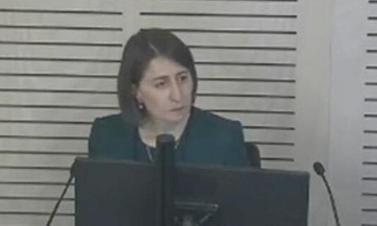 Thủ hiến New South Wales Gladys Berejiklian trong phiên điều trần ở Sydney, Australia, hôm 12/10. Ảnh: AAP.