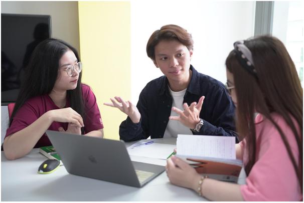 Sinh viên tại Western Sydney Việt Nam được đào tạo hoàn toàn bằng tiếng Anh. Ảnh: Western Sydney Việt Nam.