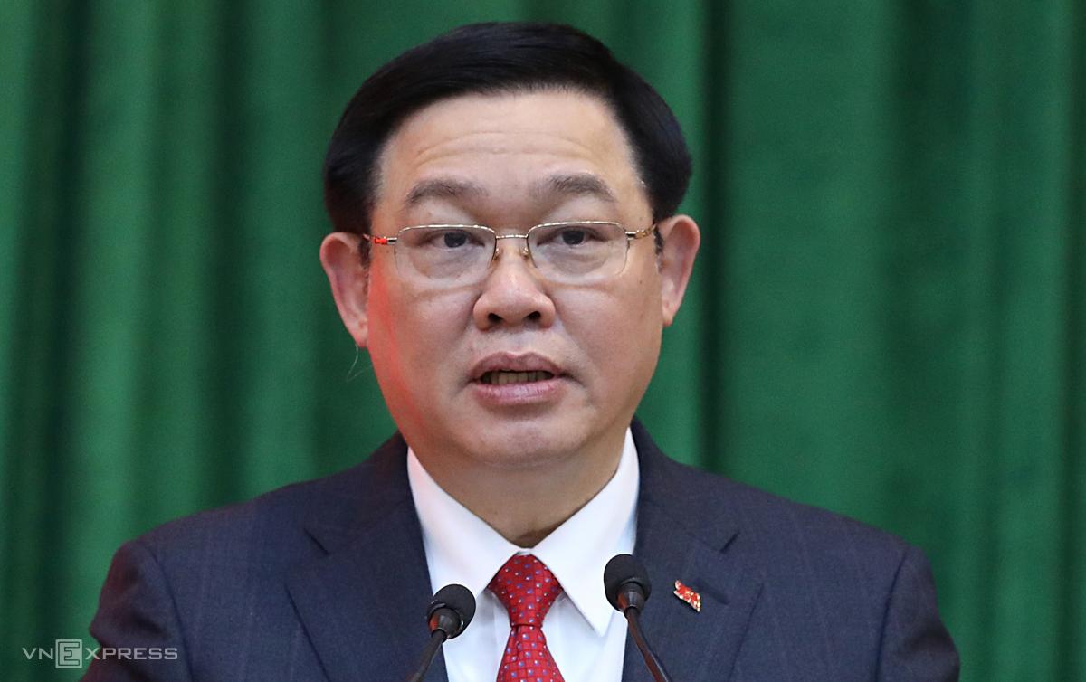 Ông Vương Đình Huệ, Bí thư Thành uỷ Hà Nội nhiệm kỳ 2020 - 2025. Ảnh: Ngọc Thành